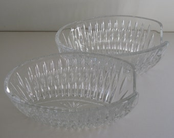GLASS SPOON HOLDERS/Spoon Holders/Buffet Spoon Holders/Glass Tableware/Dining and Serving/Large Spoon Holders/Cut Glass Table Spoon Holder