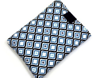 Hand Crafted Tablet Case from Blue and White Square Fabric/Case for:iPad,Kindle Fire HDX,Samsung Galaxy Tab, Google Nexus, iPad Air, Nook HD