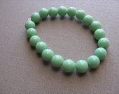 JEWELRY SALE- Girls Bracelet- Beaded Children's Jewelry- Green