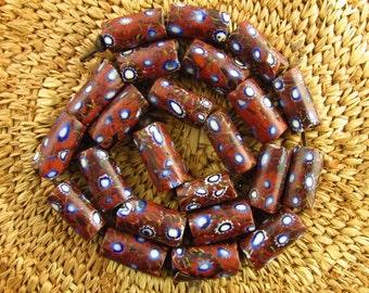Antique Millefiori Glass Beads