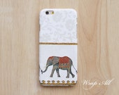 Elephant on White iPhone 6S case iPhone 6 case iPhone 5S case iPhone 5 case iPhone 4S case iPhone 4 case