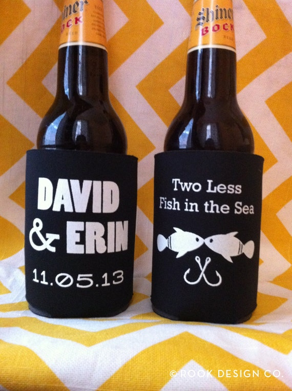 Two less fish in the sea can coolers custom wedding favors for Two less fish in the sea