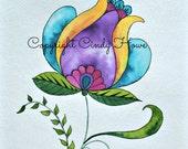Jacobean flower, Digital art, Jacobean design, digital download, flower,  floral, flowers, fantasy flower, flowers,tulip