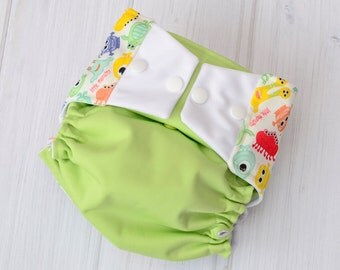 Baby Diaper Covers - Monsters - Diaper Covers for Boys - All in Two Cloth Diapers - Best Baby Diapers - 960