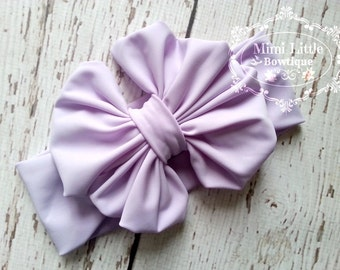 Lavender Head wrap- Girl Turban-Baby Boho headband-  Lavender Bow - lavender Headband- Lavender Headwrap