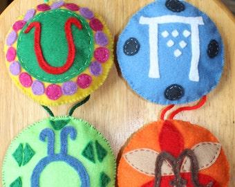 Hand Sewn Felt Christmas Ornaments: The Four Seasons