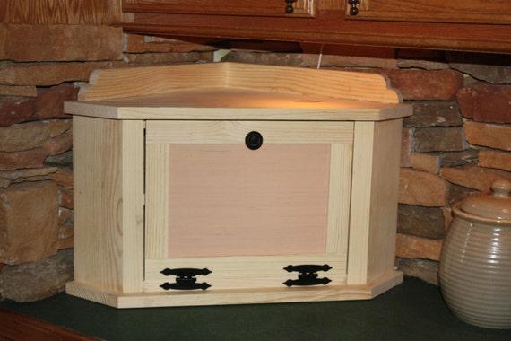 Bread Box Corner Large With Shelf Free By Redbudprimitives