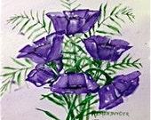 Purple Poppies  -- An original watercolor-AOE Team