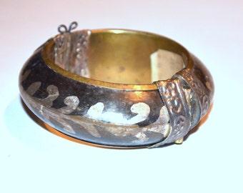 Vintage Chunky Metal Bracelet Made in India