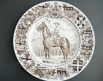 Royal Canadian Mounted Police Plate Dish Wood Sons Burslem England