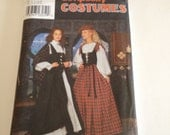 Simplicity 8855 Women's Historical Scottish Celtic Costume Sizes 6 - 12 Uncut