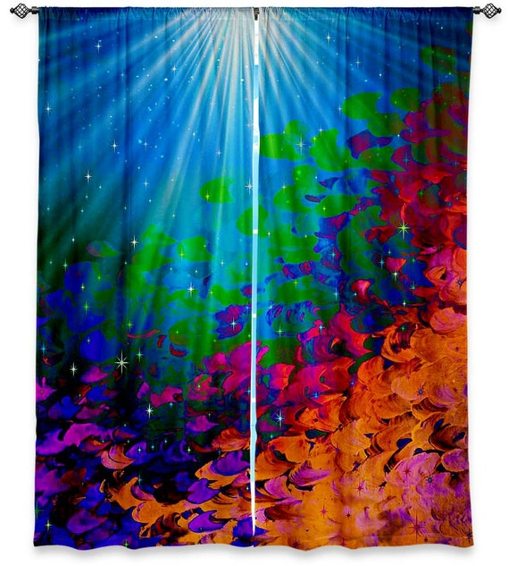 UNDER THE SEA Fine Art Window Curtains Multiple Sizes Ocean
