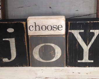 choose joy blocks