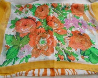 Stunning Soft & Silkie Scarf- Yellow Floral-S179