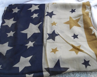 Stunning Soft & Silkie Scarf-Army Brown With Stars-S193