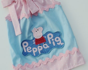 Peppa Pig  Inspired Pillowcase Dress