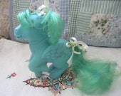 My Little Pony G1 Vintage 83 Medley Green Pegasus Music Notes