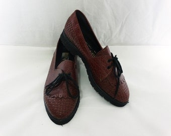 Brown Oxford Shoes - SIZE 6 AU Womens