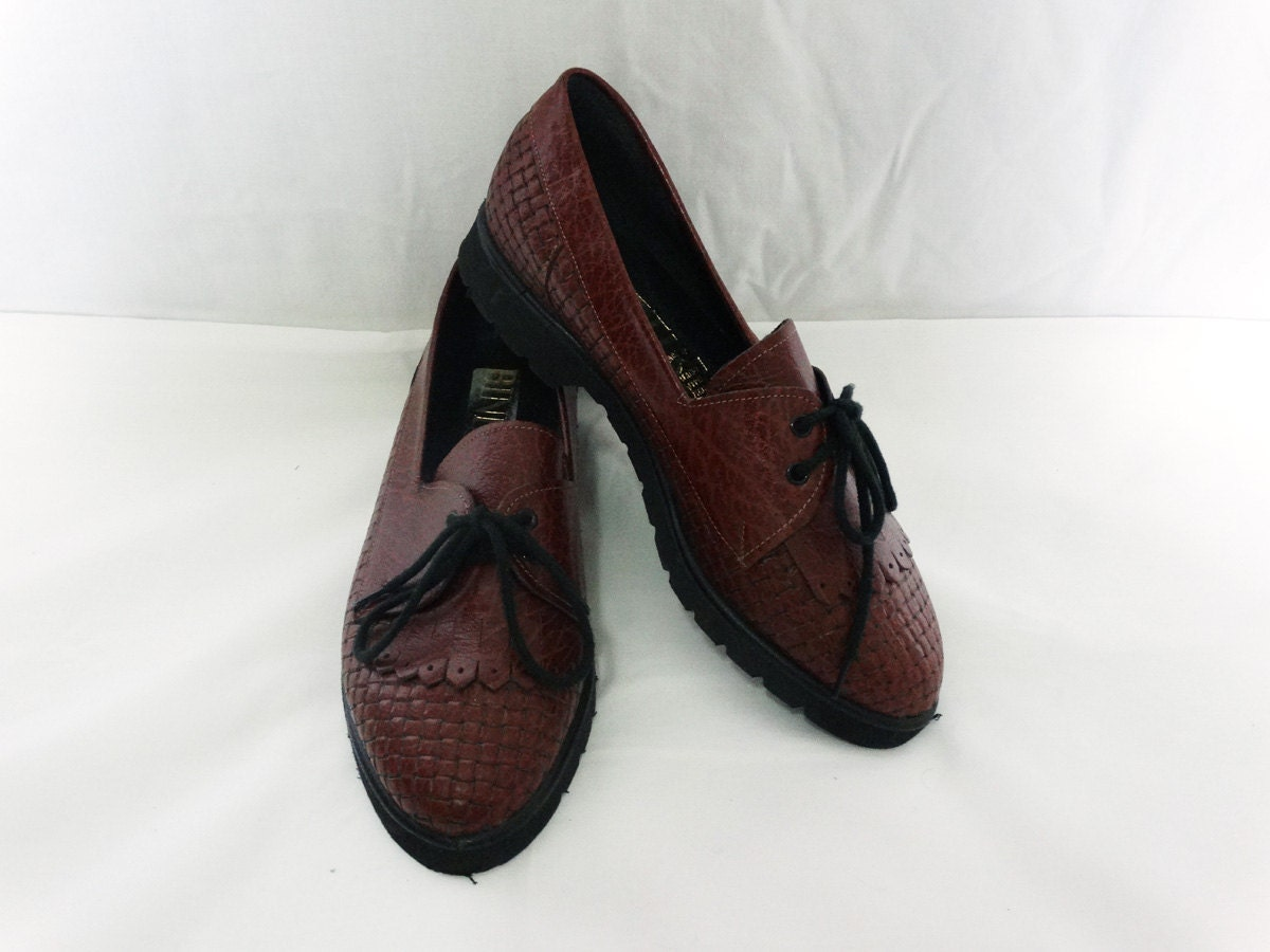 brown oxford shoes size 6 au womens by indigoimagesvintage