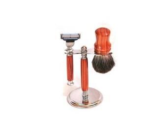 Razor Shaving Set made with Tulip Wood