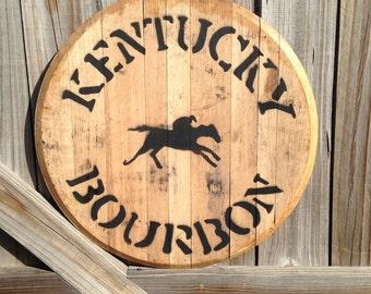 Kentucky Bourbon Whiskey Barrel Head