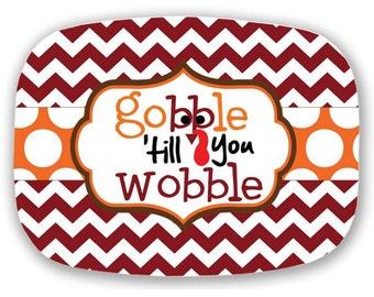 Personalized Melamine Platter, Autumn Monogrammed Platter, 10x14 Platter, Hostess Gift, Wedding Gift, Christmas Gift, Housewarming Gift