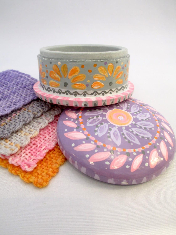 Knitting Notions Organizer : Storage wooden box knitting notions