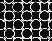 "Black Pillow - Black Chain link Pillow .Black and White Pillow..16"",17"",18"",20"" 24"" 26"", Lumbar Pillow or Euro Sham"