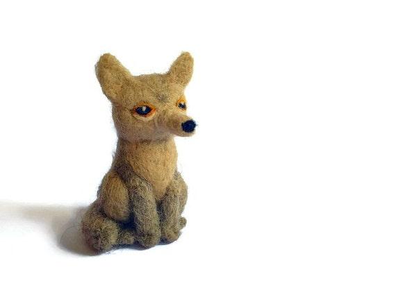 Needle Felted Tibetan Fox Amigurumi Soft Sculpture by ...
