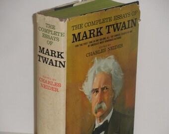 Twain essay what