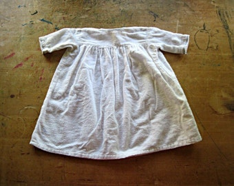 Vintage Flannel Gown, Shabby Chic Nursery, Cotton Flannel Nightgown, Baby Girl Clothes Newborn, Infant Baby Clothes
