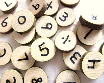 20% Off Tree Branch Numbers - Wooden Number Set - Natural Waldorf Inspired Math Set
