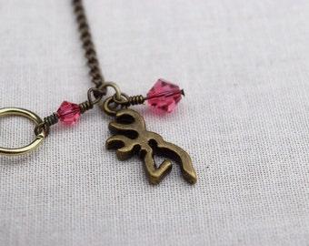 Antiqued Bronze Browning Deer Bracelet