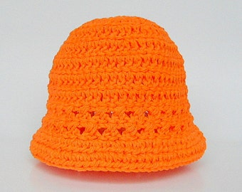 Orange Baby Hat 18 Months Old Boy  Spring Cotton  Cap 9 Months To 2 Years Old Infant Girl  Summer   Beanie Tangerine Halloween Accessory