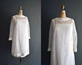 Kendall / 60s short wedding dress / lace dress
