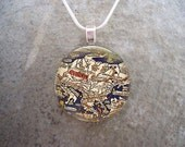 Map Jewelry - Glass Pendant Necklace - Map 17