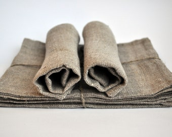Natural color Linen Placemat Set of 6 pcs FREE SHIPPING WORLDWIDE Christmas gift Pre-washed and softened Rough style Rustic style TPAD15507