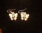 Girls Small Butterfly Earrings