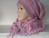 Riptide Slutch Hat Pink Grey Teenage or Adult size