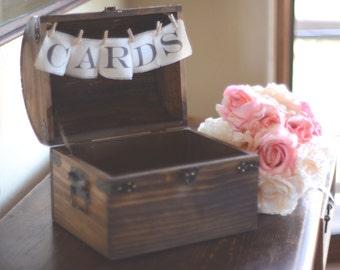 Wedding Gift Card Holder With Lock : Wedding Card Box-Wooden Card Box-Wedding Card Trunk-Wedding Gift Card ...