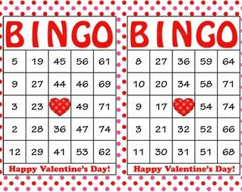 Valentine Bingo | Etsy