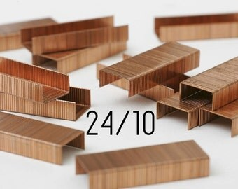 Box of 1000 copper staples - SAX - 24/10