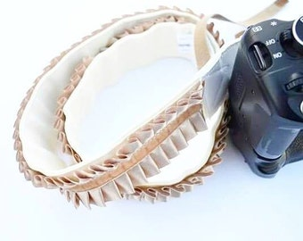 DSLR Camera Strap / Vintage Inspired Handmade and Original Camera Strap in Soft Beige
