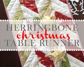 Herringbone Christmas Table Runner