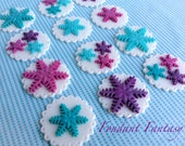Snowflake Cupcake Toppers