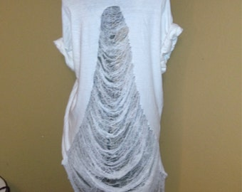 shredded T-shirt