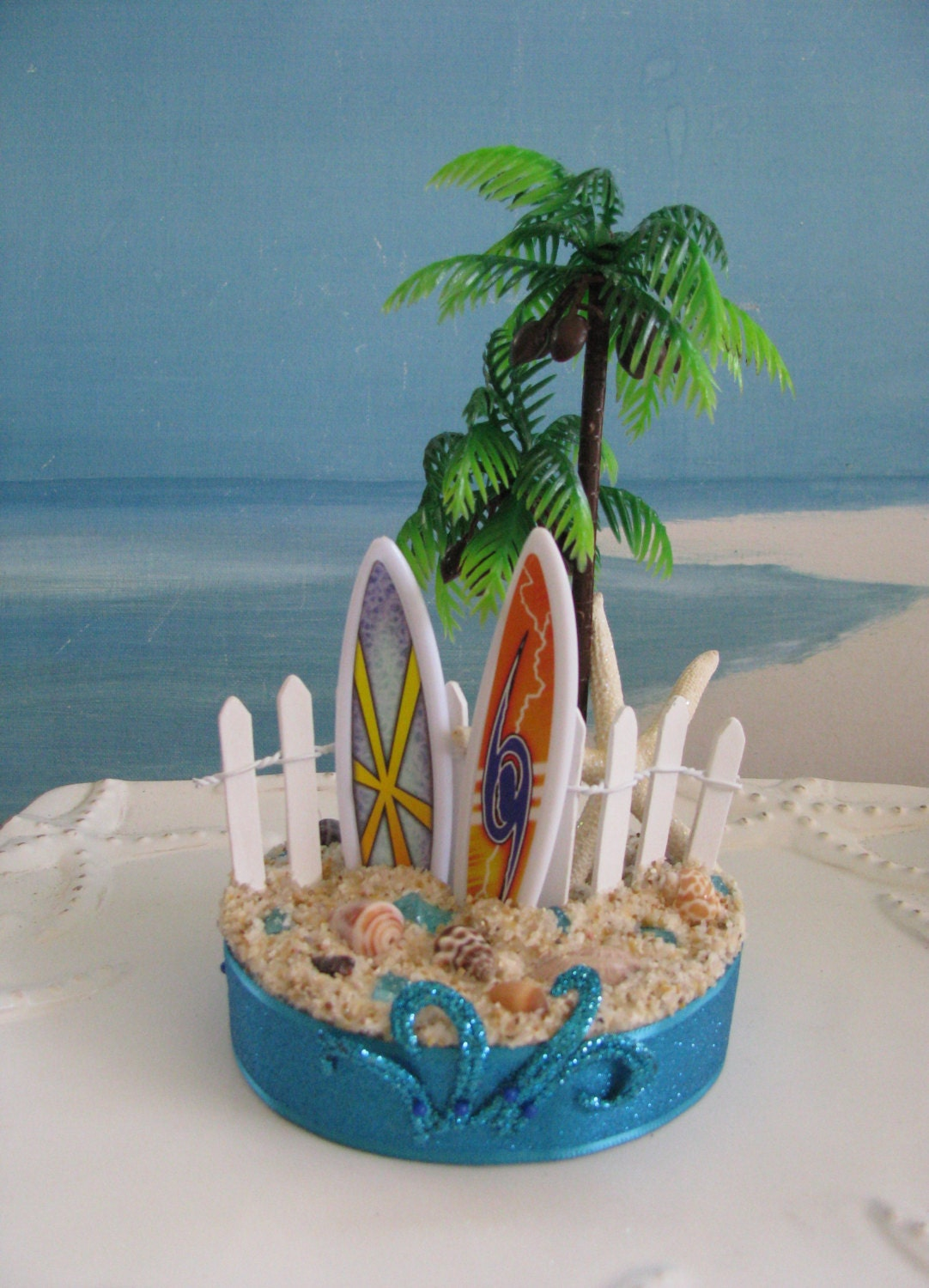 wedding cakes palm beach surfboard palm tree wedding cake topperseashell cake 25224