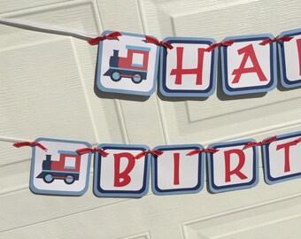 Choo Choo Train Birthday Banner