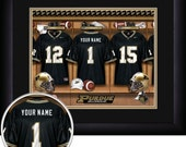 PERSONALIZED & FRAMED Officially Licensed Purdue Boilermakers Football Sports Print