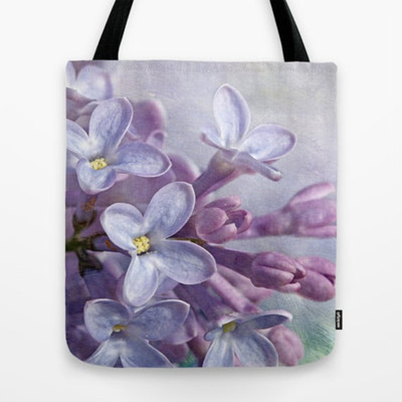 Lilacs, Photo, Tote Bag,Tote, Everyday Bag, Travel Bag, School Bag, Flower, Teacher Gift, Garden, Unique Gift, Bags, Floral, Gift Idea, Gift
